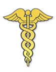 Kentucky Board of Medical Licensure caduceus logo in gold.